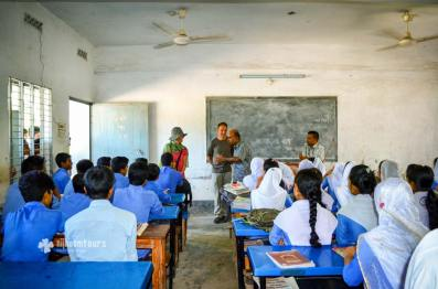 Visiting a school in Barisal
