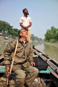 Forest guard ar Sundarbans