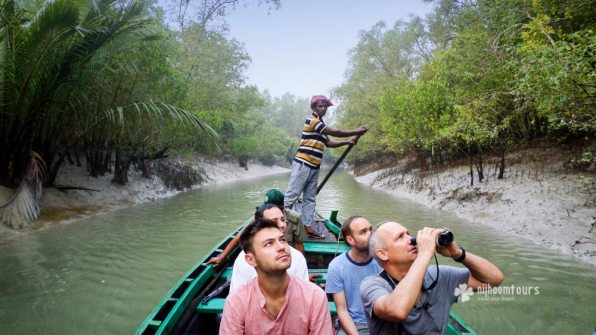 Exploring a Canal on a row boat in search of wildlife