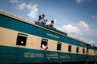 A typical Bangladeshi train