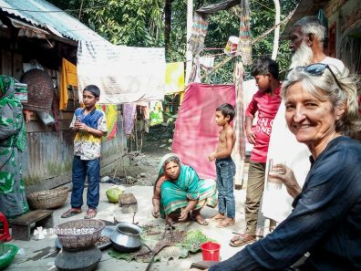 Visiting a village family in Barisal