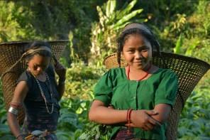 Women from Mru tribe working