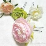 簡単可愛い造花とUピンで手作り髪飾りの作り方 100均素材でも♪