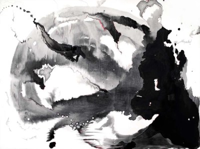 Black Tongue, mixed media on canvas, 30 x 40 inches, 2010
