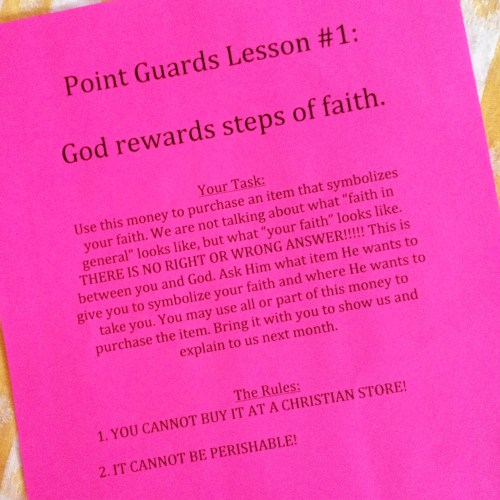 Point Guards Lesson #1: God Rewards Steps of Faith