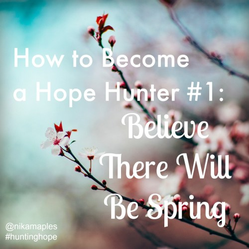 How to Become a Hope Hunter #1: Believe There Will Be Spring