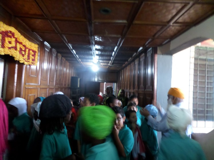 At the Sikh temple,Gurudwara.