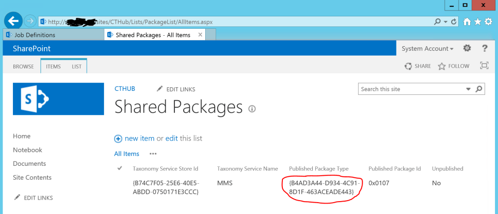 SharePoint Published Package Type