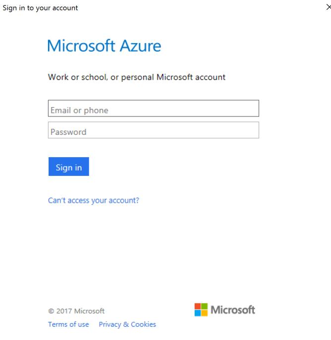 Provide Azure credentials