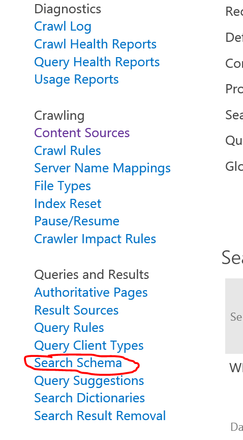 SharePoint Search Schema