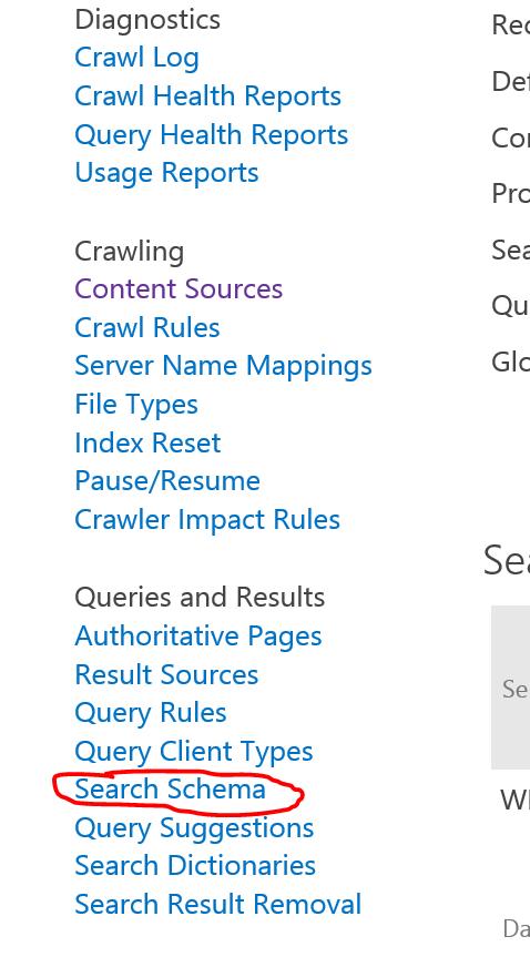 SharePoint Search Schema