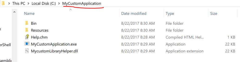 MyCustomApplication file Structure