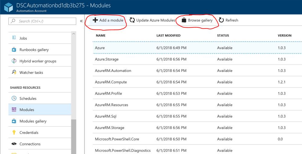 Azure Automation Module