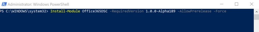 Installing Office365DSC with PowerShell