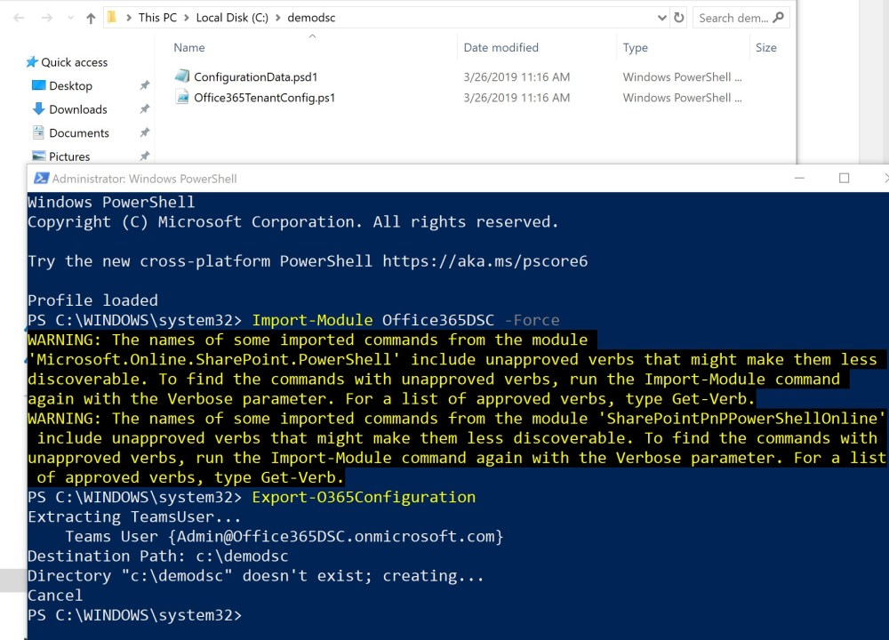 Office 365 extraction