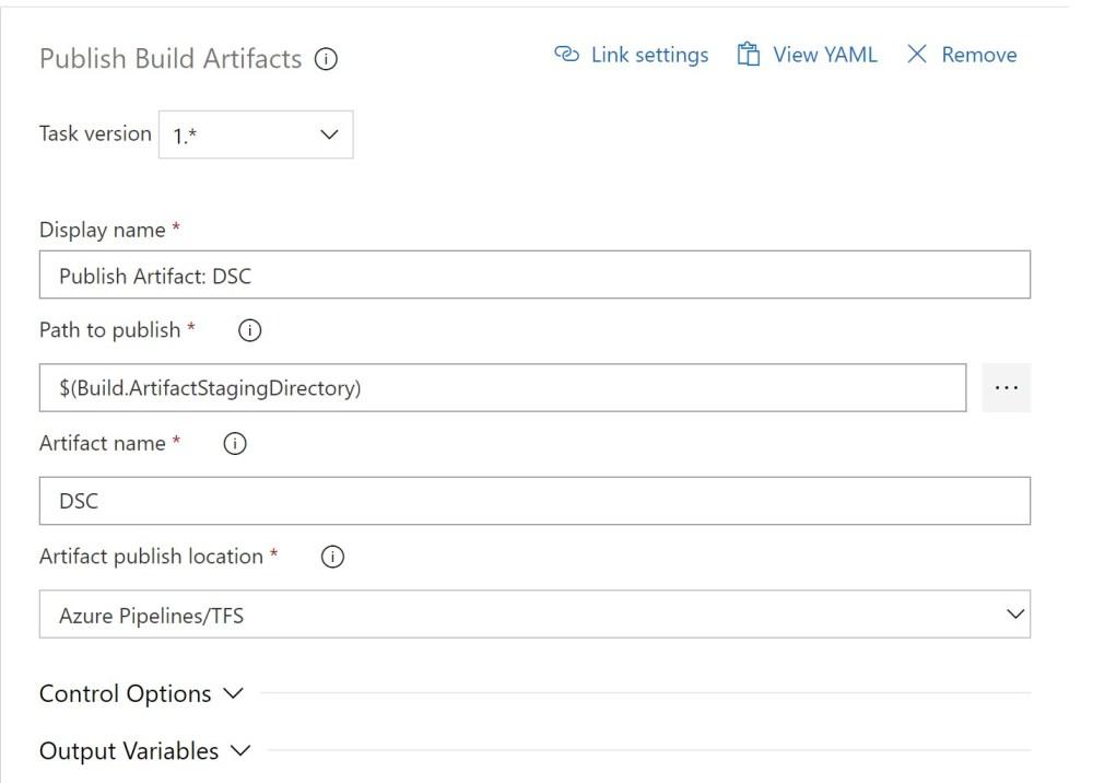 Azure DevOPS Build Publish Build Artefacts