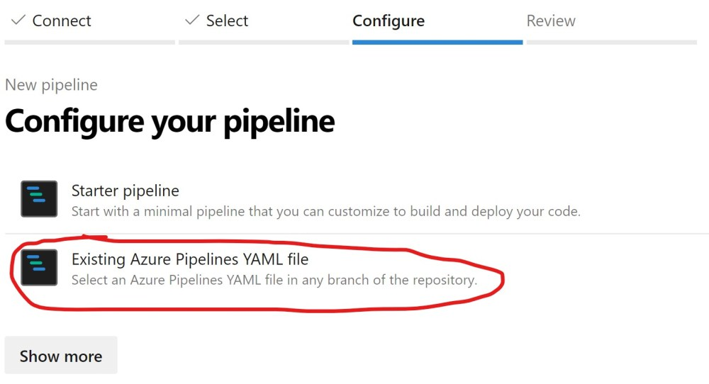 Importing existing YAML Build Pipeline in Azure DevOPS