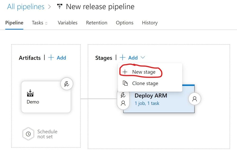 Add New Azure DevOPS Release Pipeline Stage