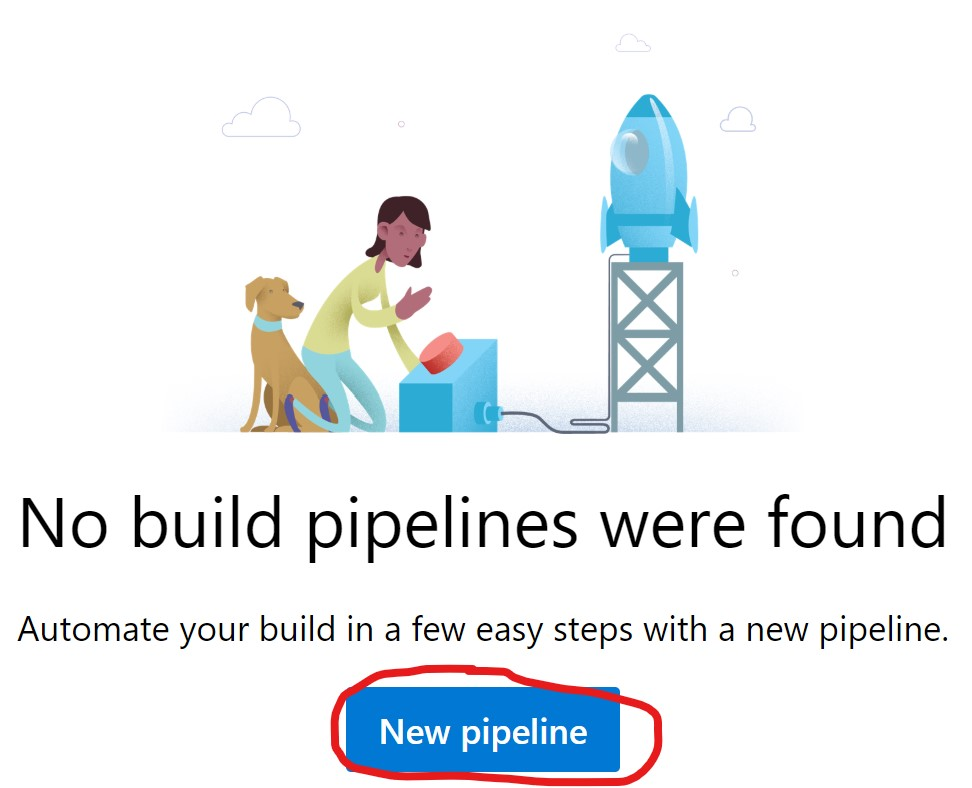 New Azure DevOPS Pipeline Button