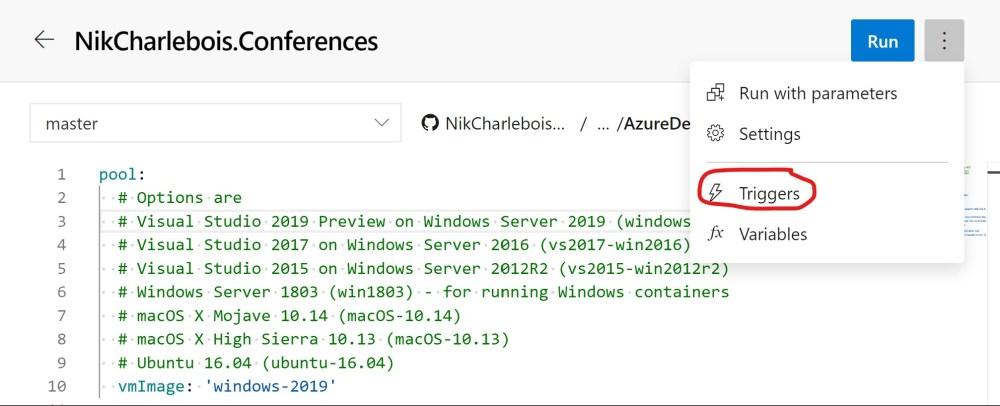Azure DevOPS Build Triggers