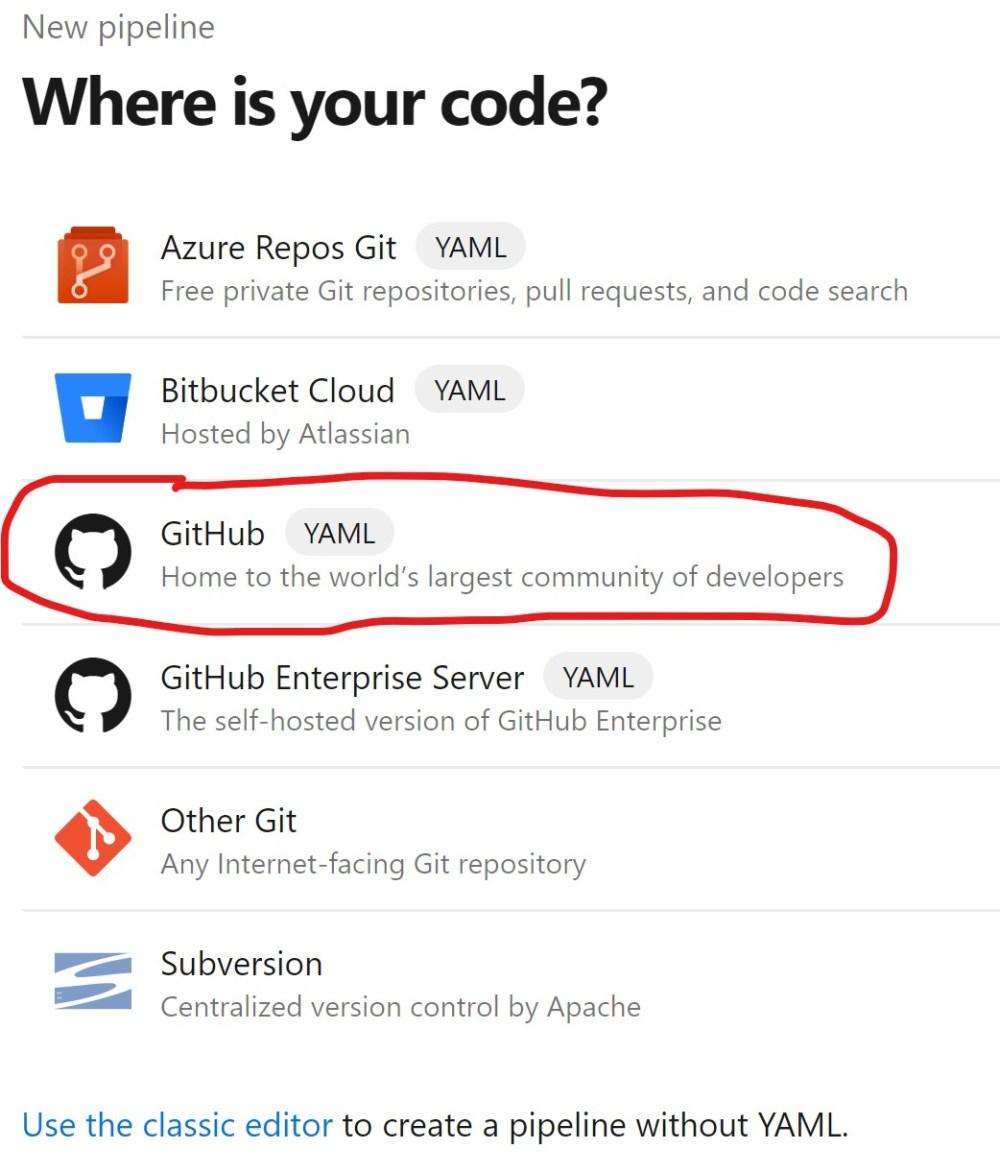 Import GitHub Source in Azure DevOPS