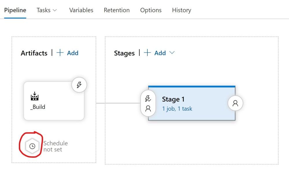 Add an Azure DevOPS Release Pipeline Schedule