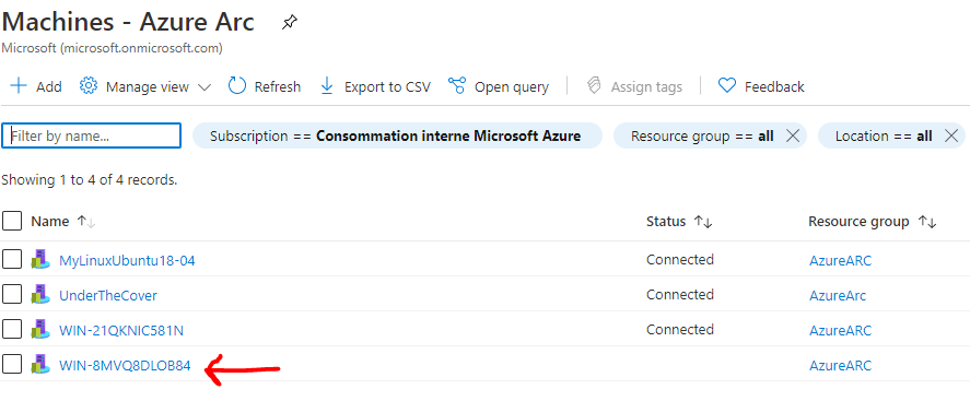 New Azure Arc Server