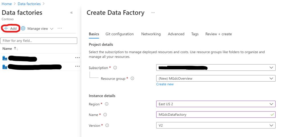 New Azure Data Factory - Basics