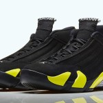 Air Jordan 14 Men's Shoes Black/Vibrant Yellow-White 487471-070