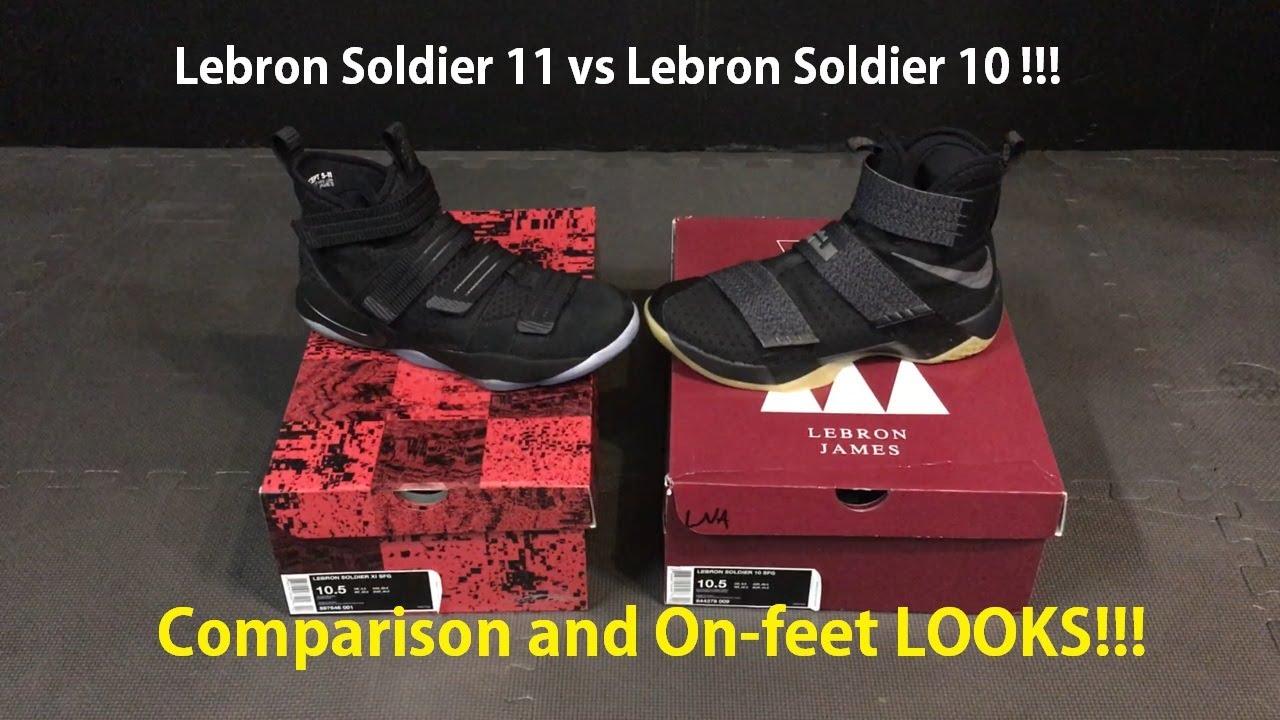 Nike Prototype Lebron James Soldier XI (11) vs Soldier X (10) ON FEET