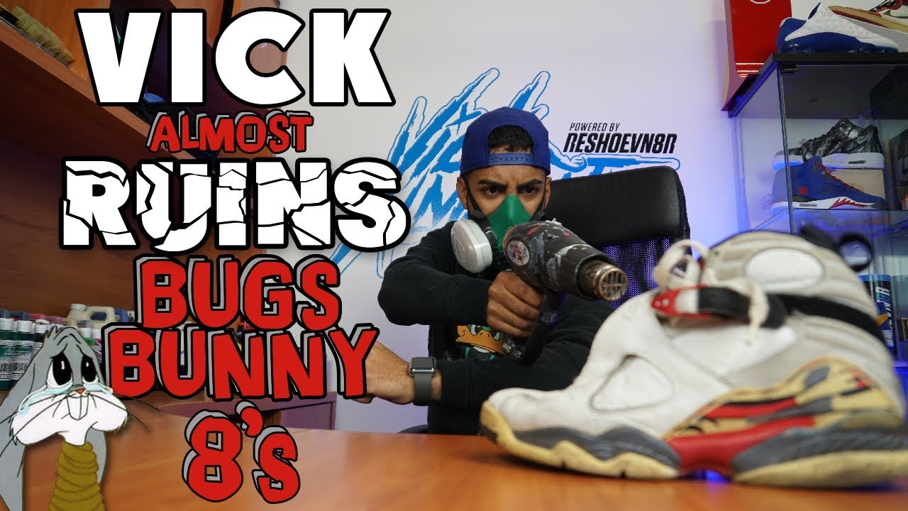 Vick Almighty almost ruins Bugs Bunny Air Jordan 8 - Vick Almighty almost ruins Bugs Bunny Air Jordan 8