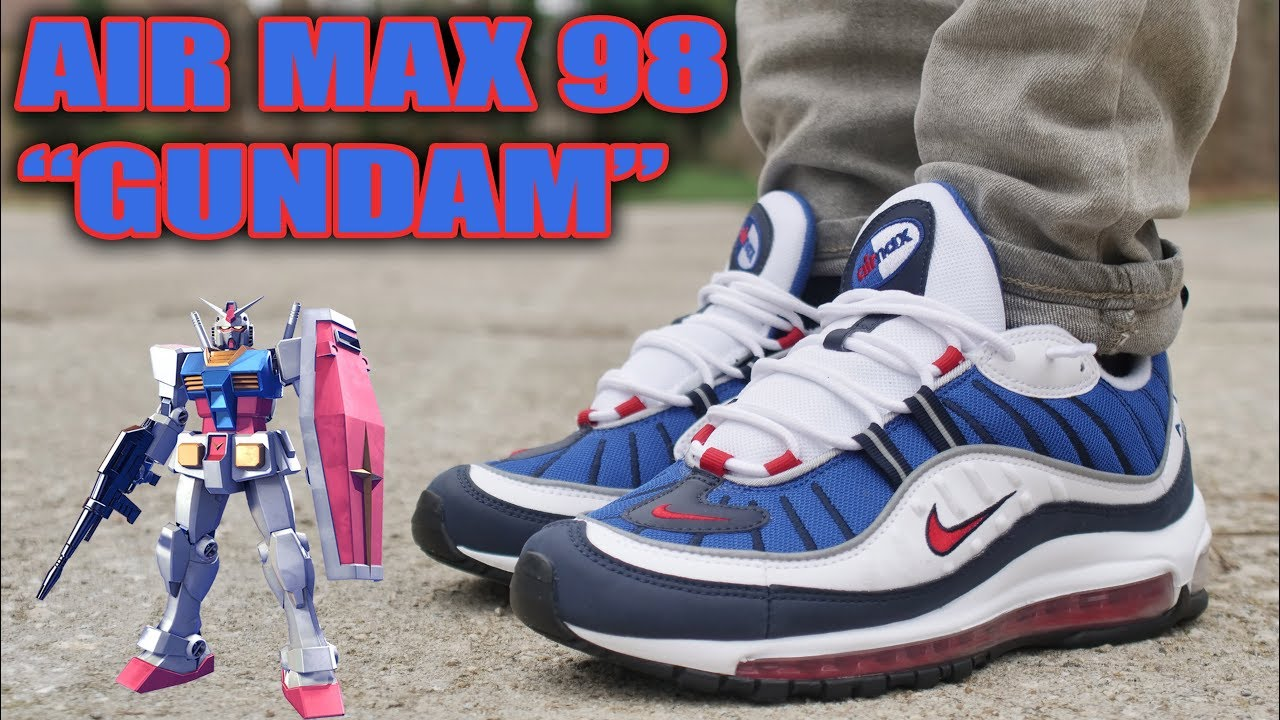 NIKE AIR MAX 98 OG GUNDAM REVIEW AND ON FOOT - NIKE AIR MAX 98 OG