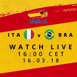 FIFA WORLD CUP REWIND LIVE TODAY 4PM CET ITALY V BRAZIL 1982 - FIFA WORLD CUP™ REWIND - LIVE TODAY 4PM CET - ITALY V BRAZIL 1982
