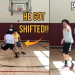 HE CROSSED UP THE DEFENDER, HIT THE SHOT AND POINTED AT THE CAMERA!!!