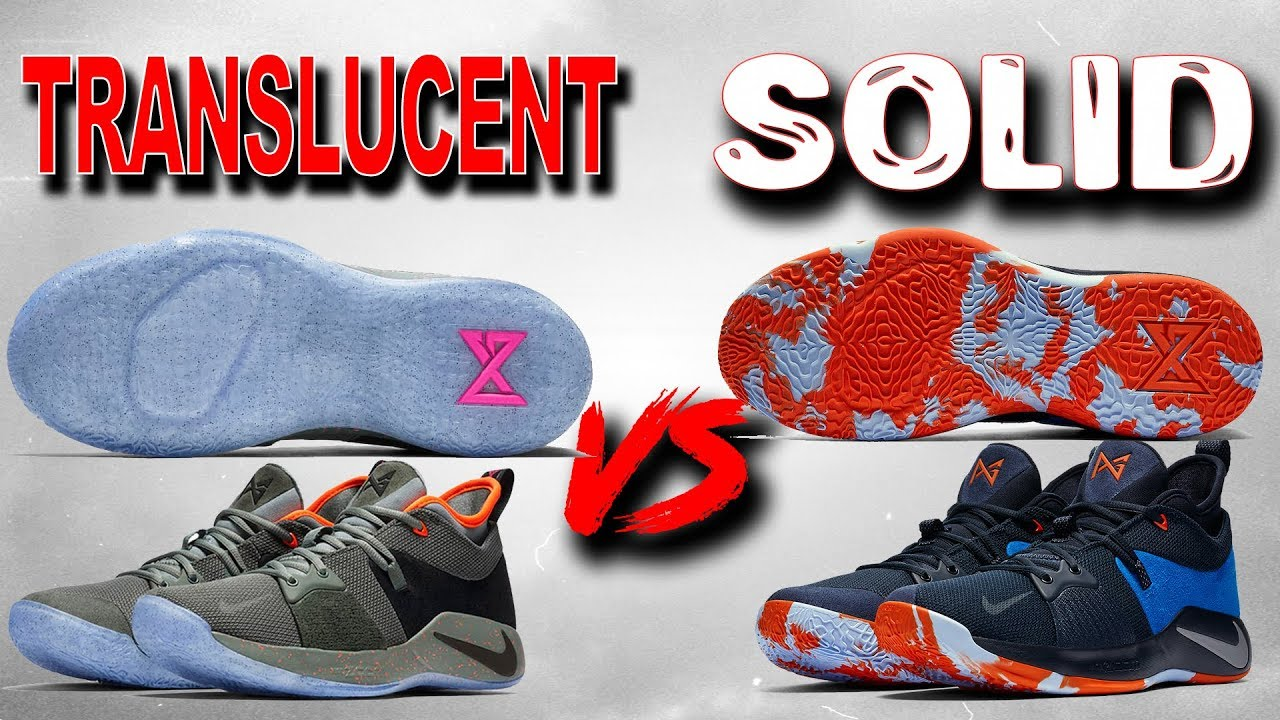 Nike Pg 2 Solid Outsole vs Translucent Outsole Solids Better - Nike Pg 2 Solid Outsole vs Translucent Outsole! Solid's Better??
