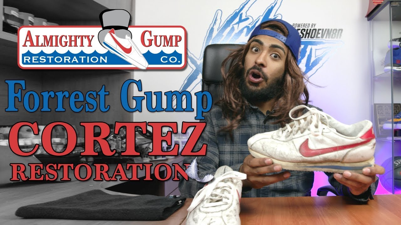 Almighty Gump restores a pair of vintage Nike Cortez - Almighty Gump restores a pair of vintage Nike Cortez