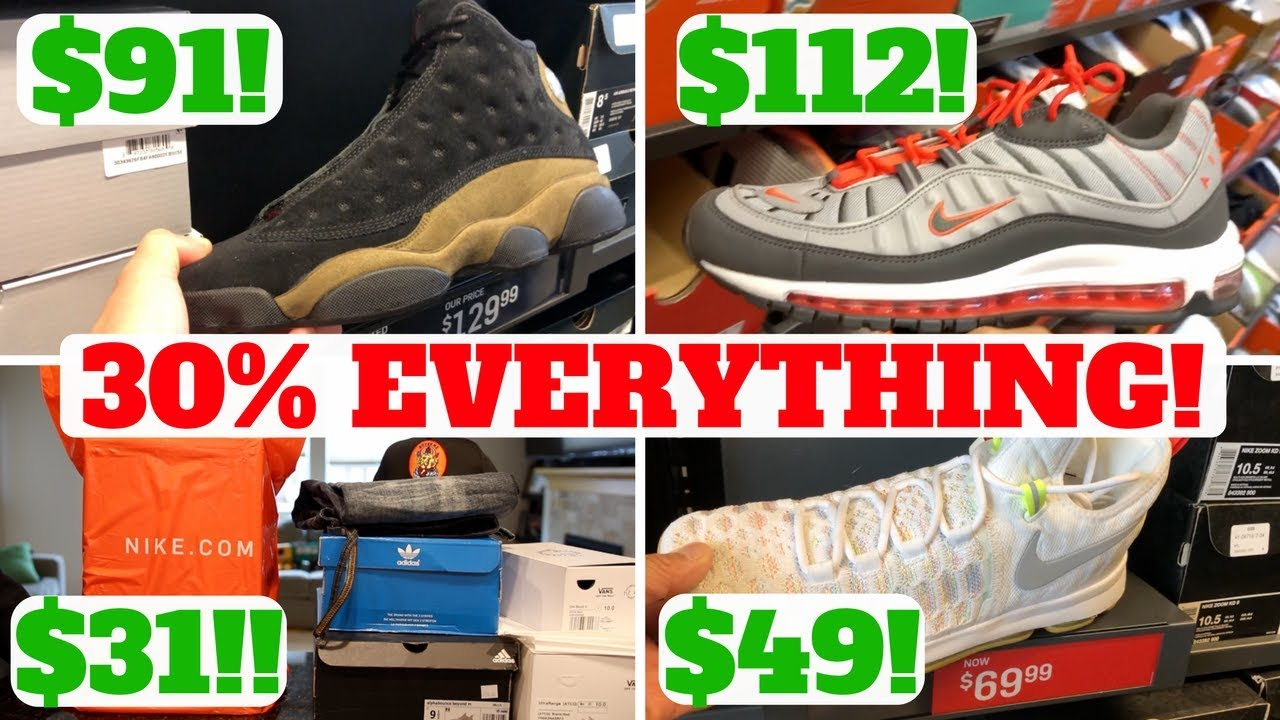 COPPED 31 SNEAKERS 30 OFF EVERYTHING AT NIKE OUTLET - COPPED $31 SNEAKERS! 30% OFF EVERYTHING AT NIKE OUTLET!