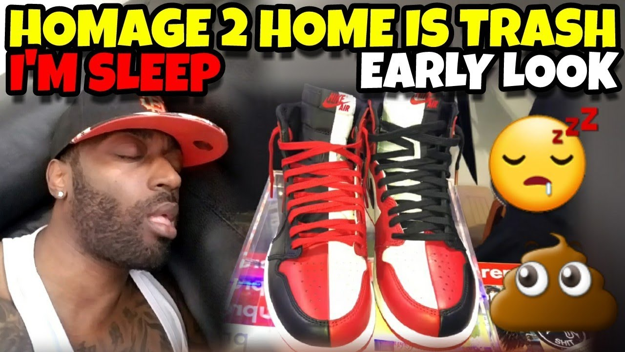 Jordan 1 Homage 2 Home Is TRASH Early Detailed Look - Jordan 1 Homage 2 Home Is TRASH!! Early Detailed Look