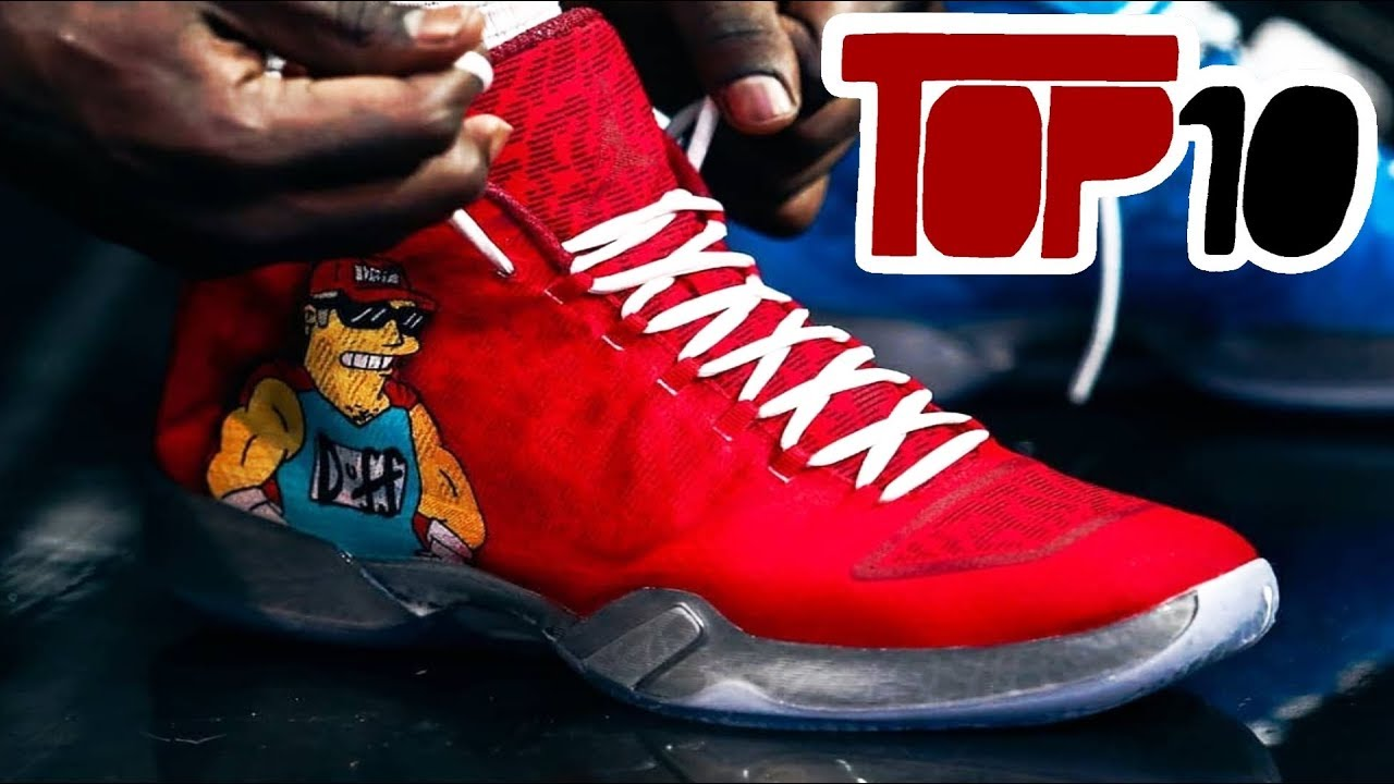 Top 10 Best Custom Basketball Shoes Of 2018 NBA Season - Top 10 Best Custom Basketball Shoes Of 2018 NBA Season