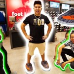 WEARING YEEZY SLIPPERS TO FOOTLOCKER!! **KICKED OUT**