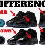 15 DIFFERENCES! AIR JORDAN 11 GAMMA vs CAP AND GOWN!