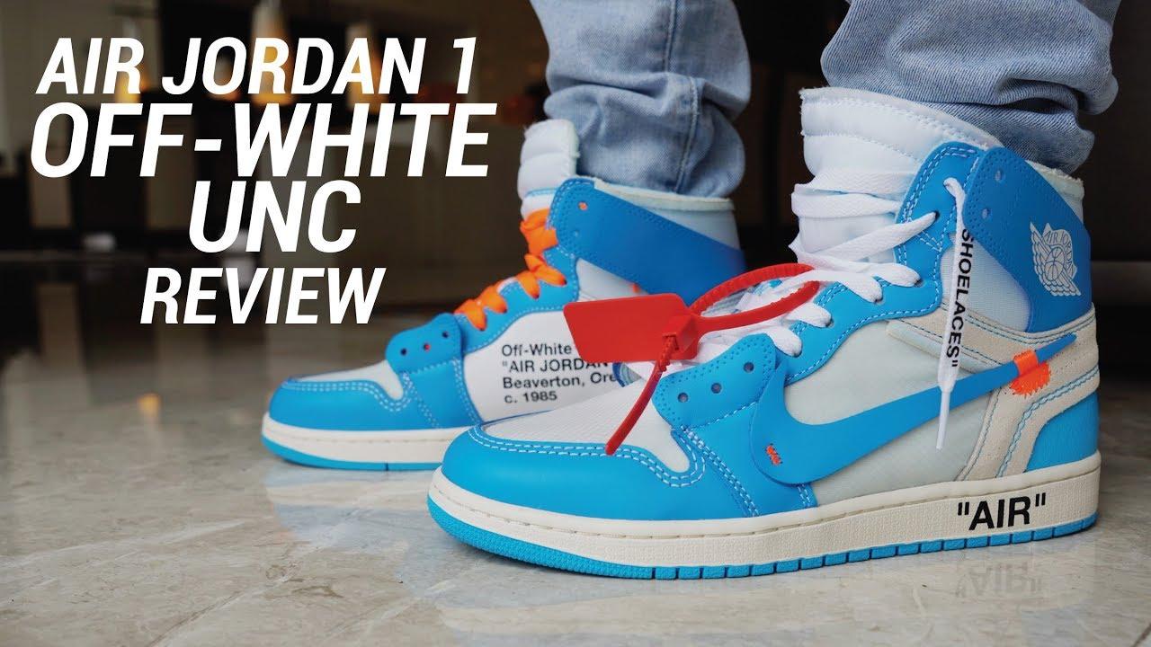 OFF WHITE AIR JORDAN 1 UNC REVIEW - OFF WHITE AIR JORDAN 1 UNC REVIEW