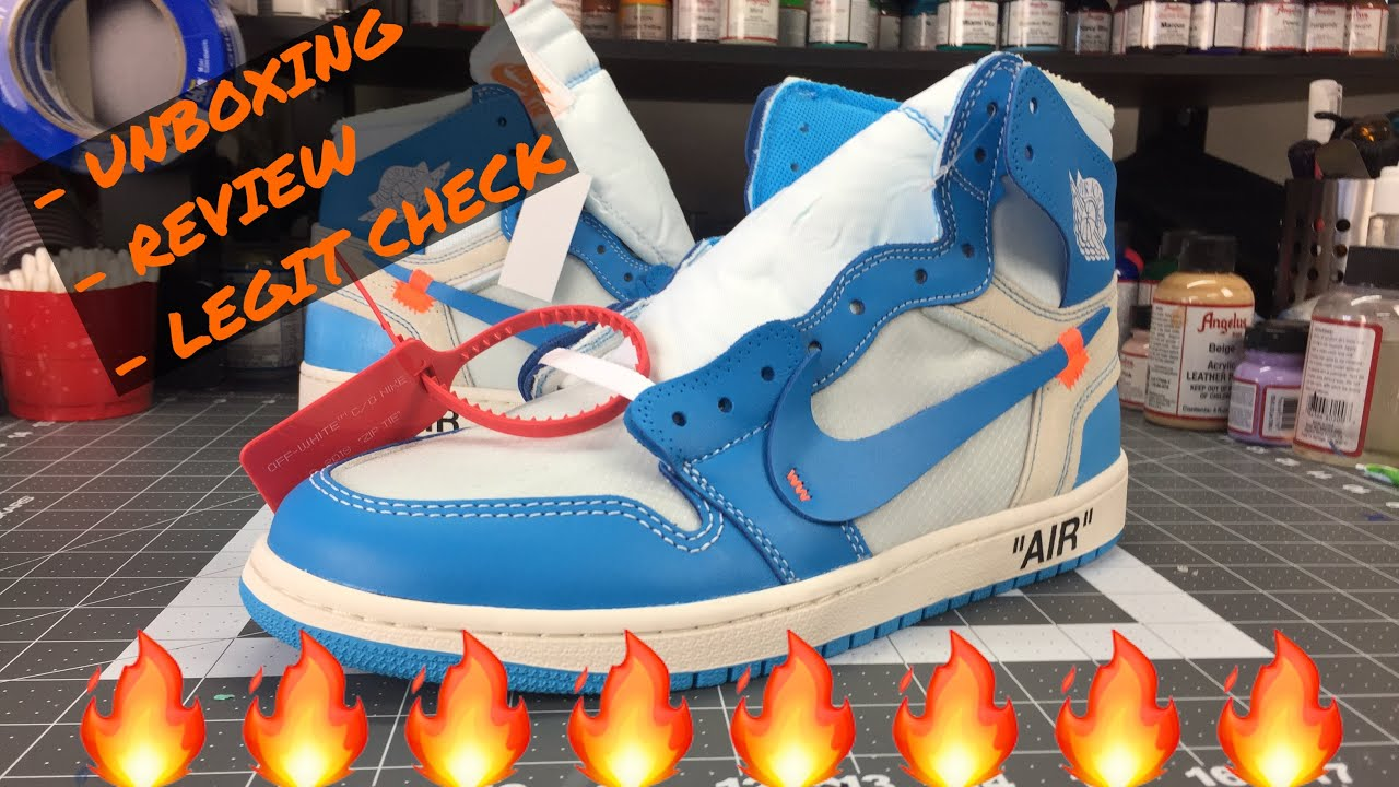 OFF WHITE UNC JORDAN 1 Unboxing Legit Check Info Review - OFF WHITE UNC JORDAN 1: Unboxing, Legit Check Info & Review!