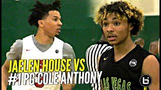 That Shadow Mountain Boy Jaelen House vs 1 PG Cole Anthony ELITE PG Battle at Nike EYBL - That Shadow Mountain Boy Jaelen House vs #1 PG Cole Anthony!!! ELITE PG Battle at Nike EYBL!