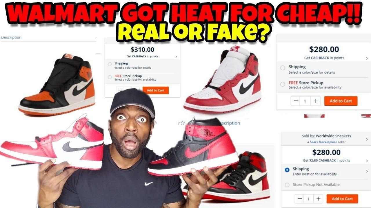 WTF Walmart Sears Got Jordans for CHEAP Is Walmart Selling Fake Jordans - WTF Walmart & Sears Got Jordans for CHEAP!! Is Walmart Selling Fake Jordans??