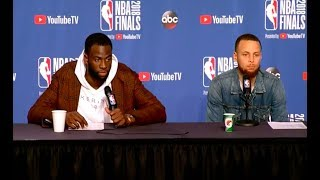 Steph Curry and Draymond Green Game 3 NBA Finals Press Conference - Steph Curry and Draymond Green | Game 3 NBA Finals Press Conference