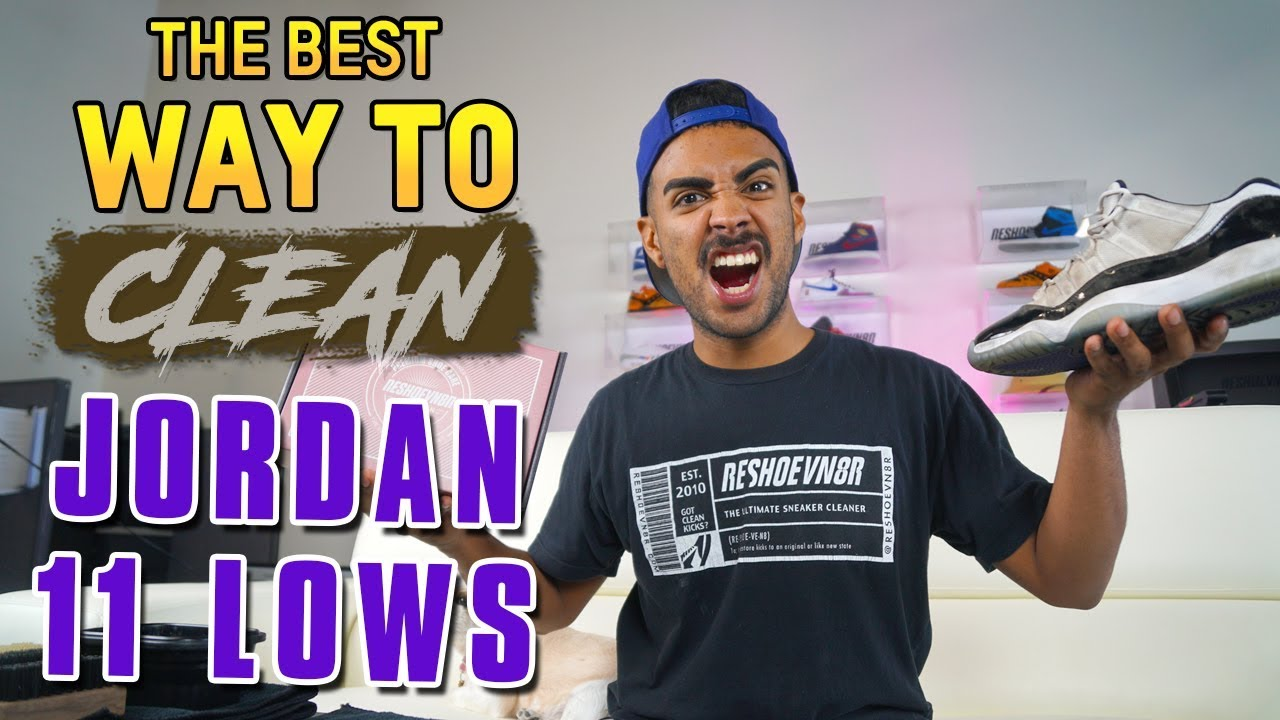 Trashed Jordan 11 Low Concord Cleaning Tutorial - Trashed Jordan 11 Low Concord Cleaning Tutorial