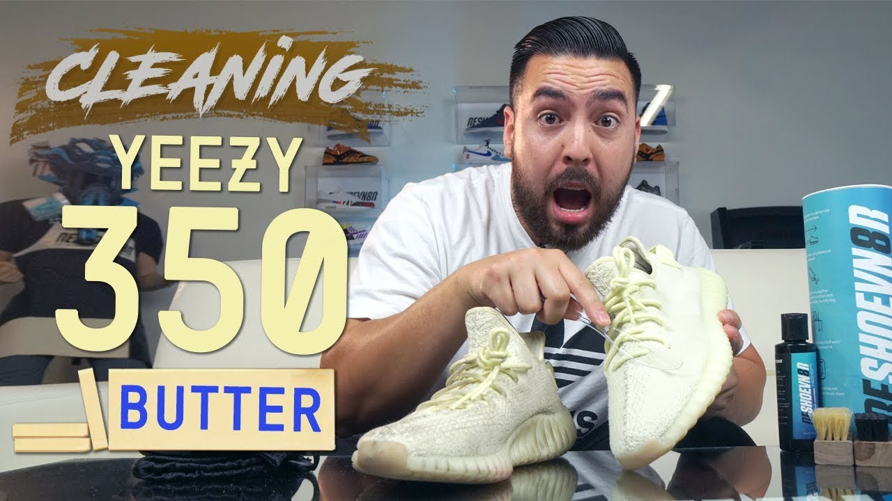"""How to Clean Stained Yeezy 350 V2 Butter - How to Clean Stained Yeezy 350 V2 """"Butter"""""""