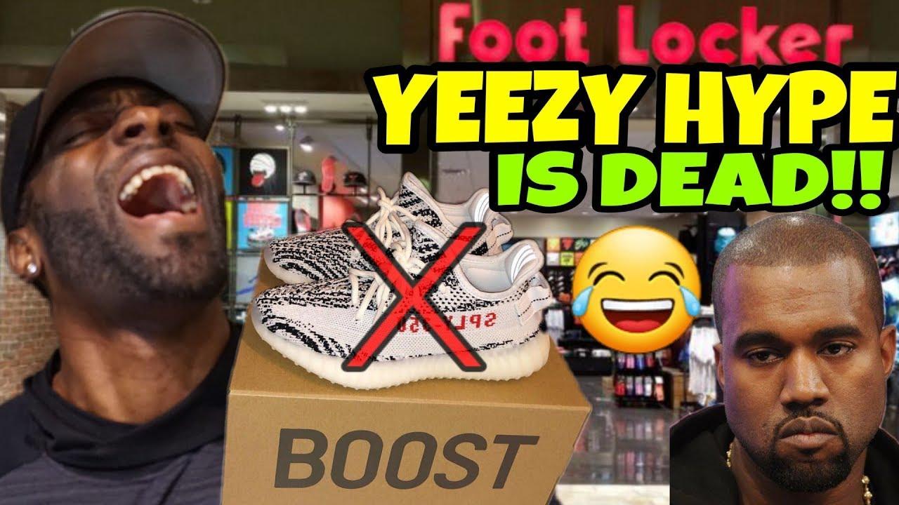 The Yeezy Hype Is Officially Dead Zebra Yeezys Are Sitting Everywhere - The Yeezy Hype Is Officially Dead!! Zebra Yeezy's Are Sitting Everywhere!!!