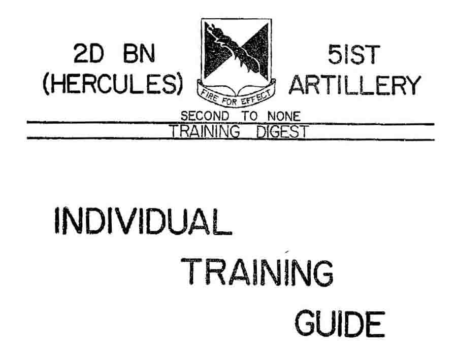 Individual Training Guide